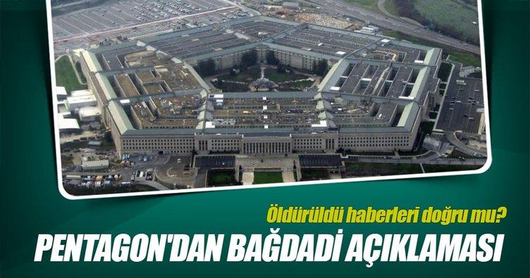 Pentagon'dan, Bağdadi açıklaması