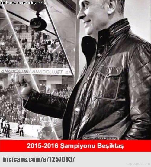 Beşiktaş şampiyon oldu! Caps'ler patladı