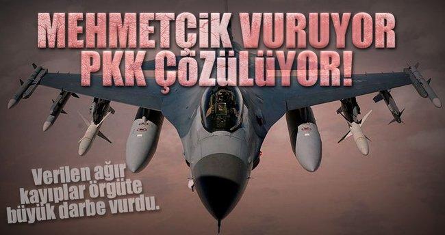Mehmetçik vuruyor PKK çözülüyor