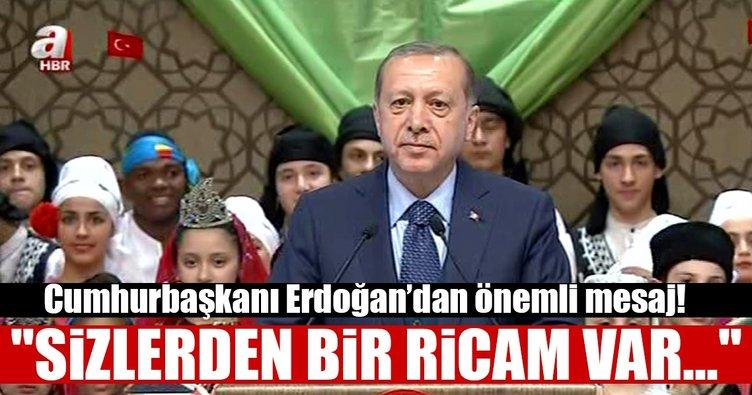 Cumhurbaşkanı Erdoğan dünya çocuklarına bu mesajı verdi