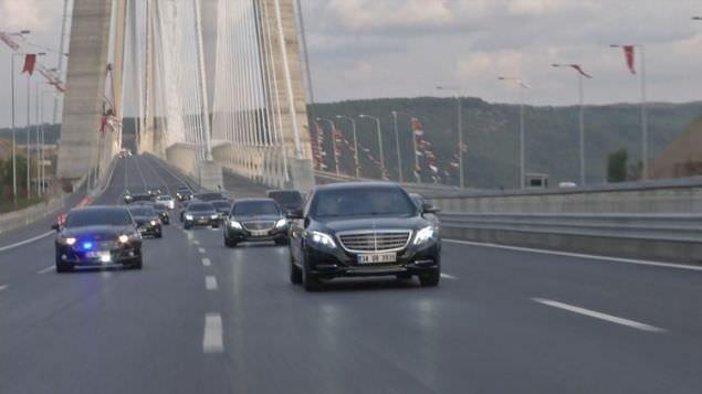 Cumhurbaşkanı Erdoğan kendi kullandığı araçla Yavuz Sultan Selim Köprüsü'nden geçti