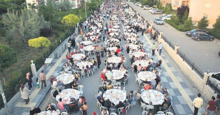 Gölbaşı'nda mahalle iftarları