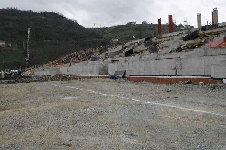 Trabzonspor'un yeni stadından son kareler