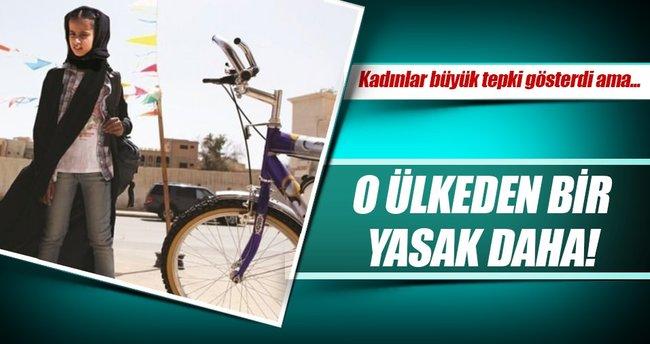 Kadınlara bisiklet sürmek yasaklandı