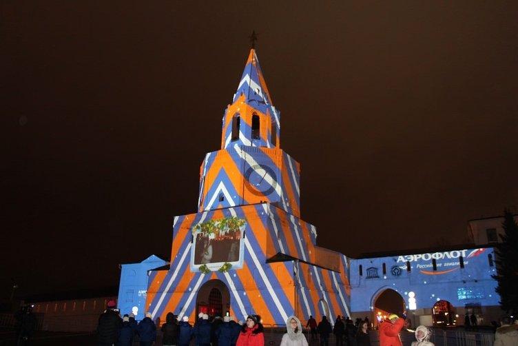 Kazan Kremlini'nde yılbaşı şovu