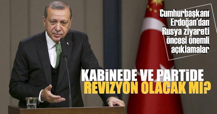 Cumhurbaşkanı Erdoğan'dan Rusya ziyareti öncesi önemli açıklamalar