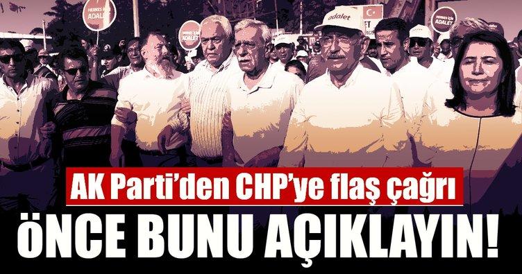 AK Parti'den CHP'ye flaş çağrı