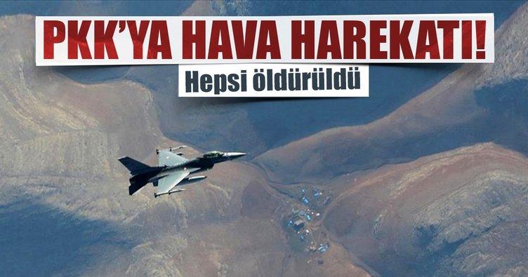 PKK'ya yönelik hava harekatı: 8 terörist öldürüldü