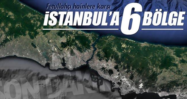 FETÖ'ye karşı İstanbul artık 6 bölge