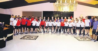 Başkan Duruay'dan olimpiyat öncesinde sporculara motivasyon