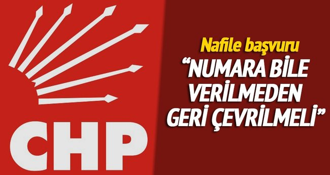CHP'den nafile başvuru
