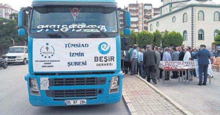 Mülteciler için aş evi tırı törenle Reyhanlı'ya gitti