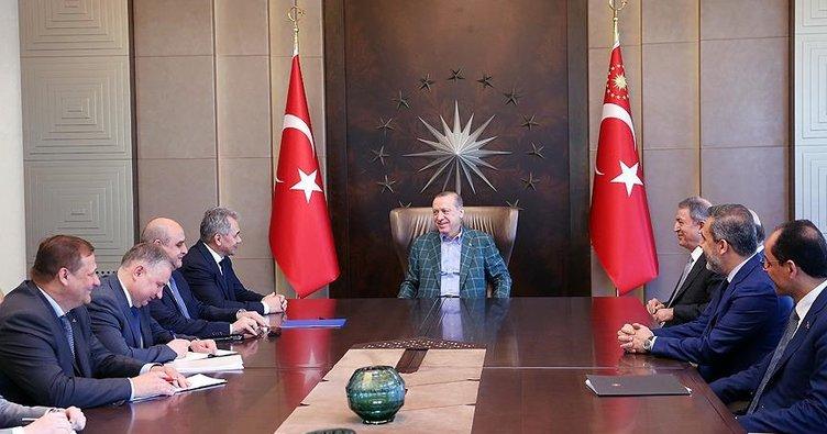 Cumhurbaşkanı Erdoğan, Rusya Savunma Bakanı Şoygu'yu kabul etti