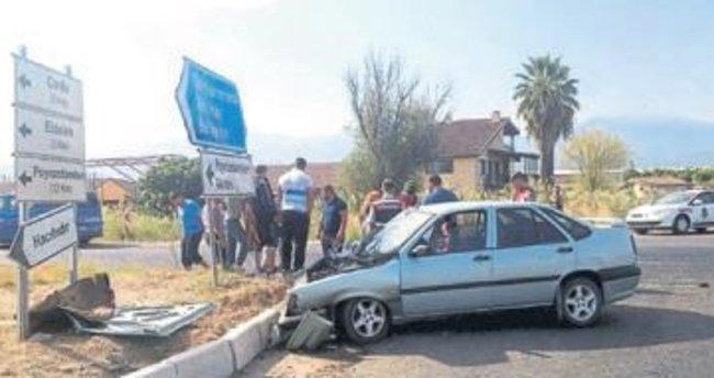Salihli'de trafik kazası: 5 yaralı