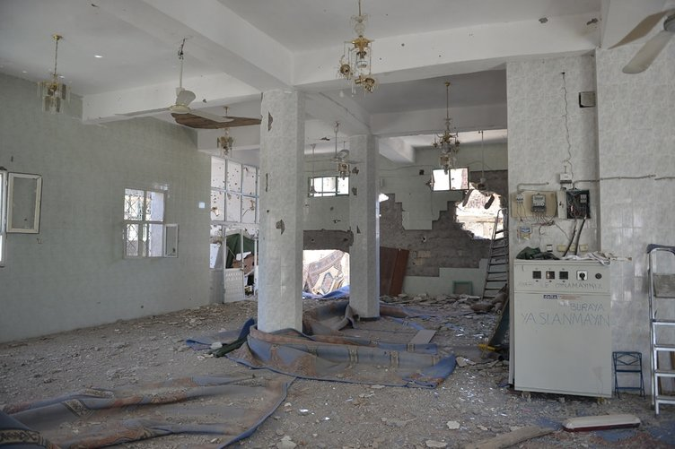 PKK'lılar camiyi bu hale getirdi
