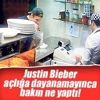 Justin Bieber açlığa dayanamadı