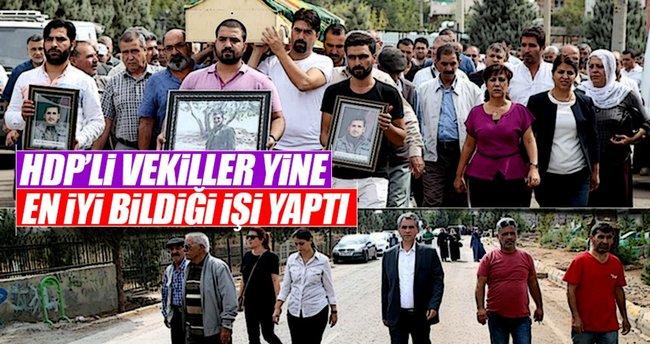 HDP Diyarbakır milletvekilleri teröristin cenazesine katıldı