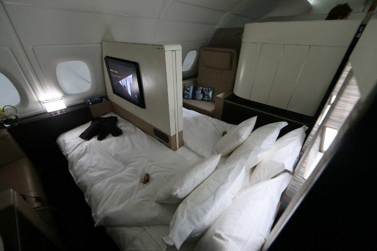 Otel odası değil uçak suiti