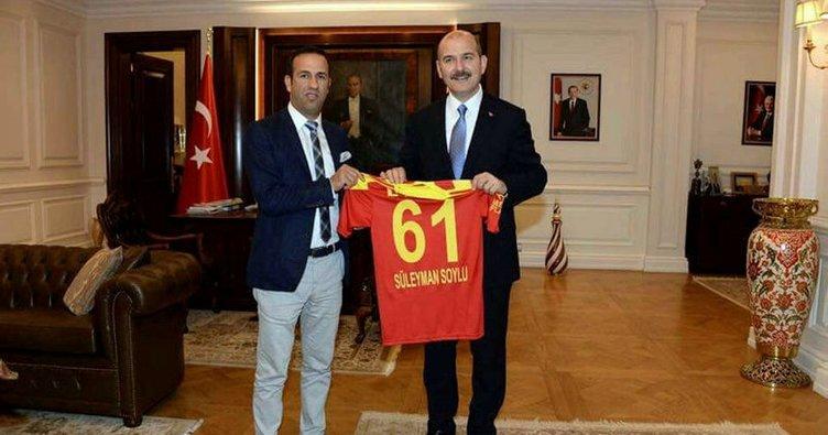 Adil Gevrek'ten Bakan Soylu'ya Y.Malatyaspor forması