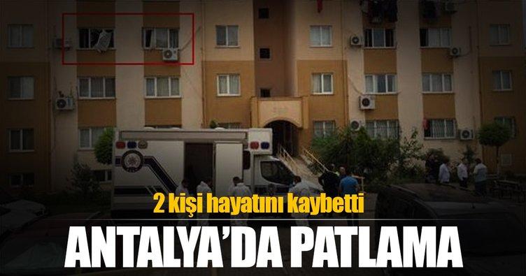 Antalya'da TOKİ konutlarındaki bir evde patlama