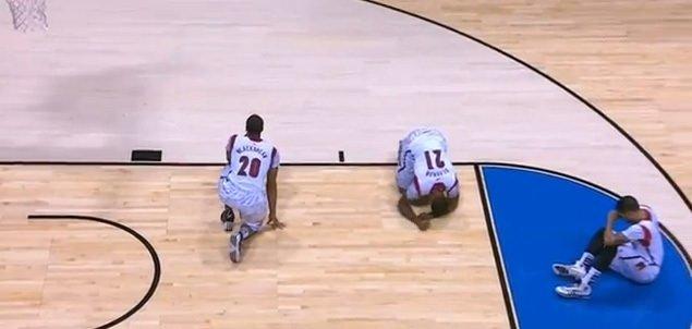 Genç basketbolcunun talihsiz sakatlığı
