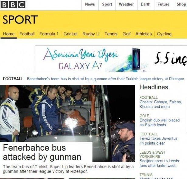 Dünya basını Fenerbahçe'ye saldırıyı böyle gördü