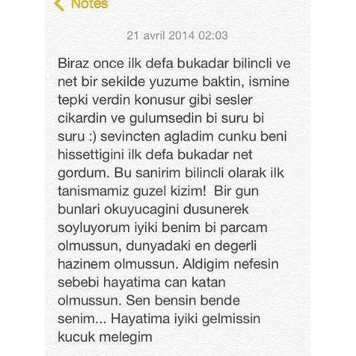Zeynep Demirel'den duygusal not