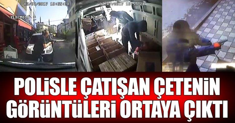 Polisle çatışan çetenin kamera görüntüleri ortaya çıktı!