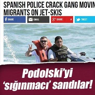 Podolski'yi 'sığınmacı' zannettiler!