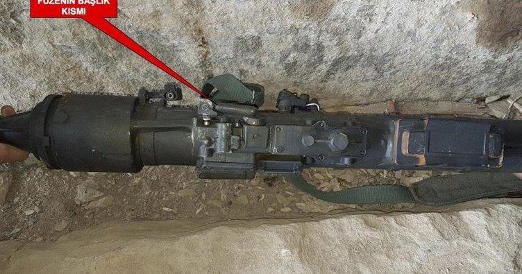 PKK mağarasından Rus füzesi çıktı