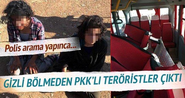 Gizli bölmeden 2 PKK'lı kadın çıktı!