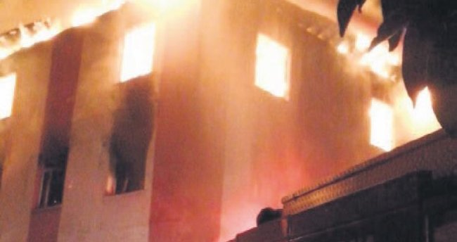 Kız yurdunda yangın faciası