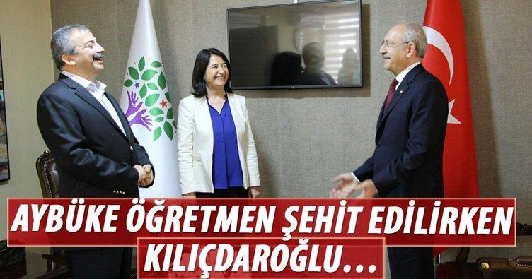Aybüke öğretmen şehit edilirken Kılıçdaroğlu HDP'lilerle poz verdi