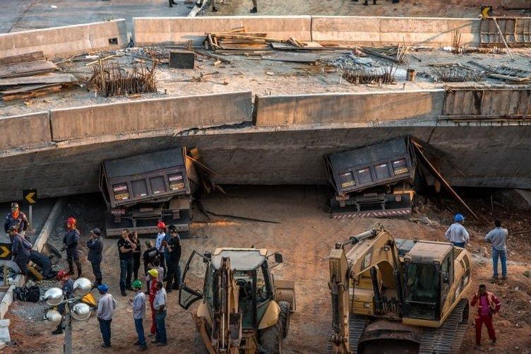 Brezilya'da dünya kupası için yapılan köprü yıkıldı