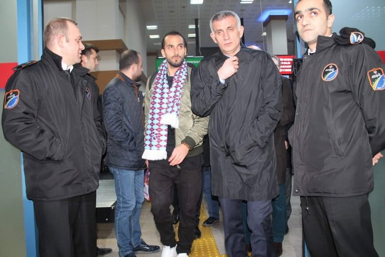 Erkan Zengin için Trabzon'da coşkulu karşılama