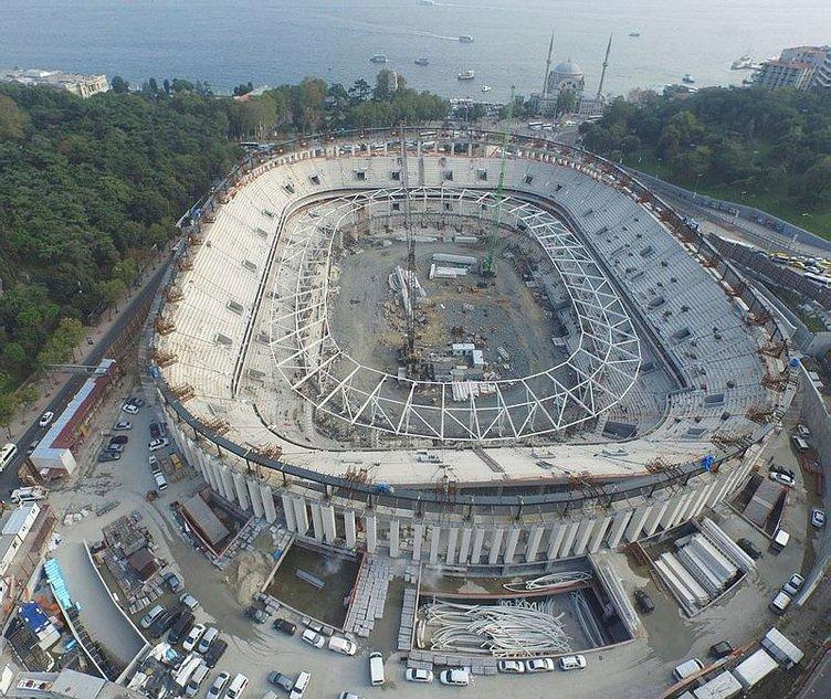Vodafone Arena'da çatı çelik iskeleti yükseliyor