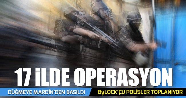 17 ilde FETÖ operasyonu: 30 Polis gözaltında