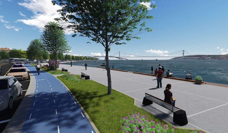 İşte Emirgan sahil yolunun yeni hali