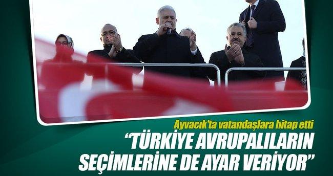 Başbakan Yıldırım, Ayvacık'ta vatandaşlara hitap etti