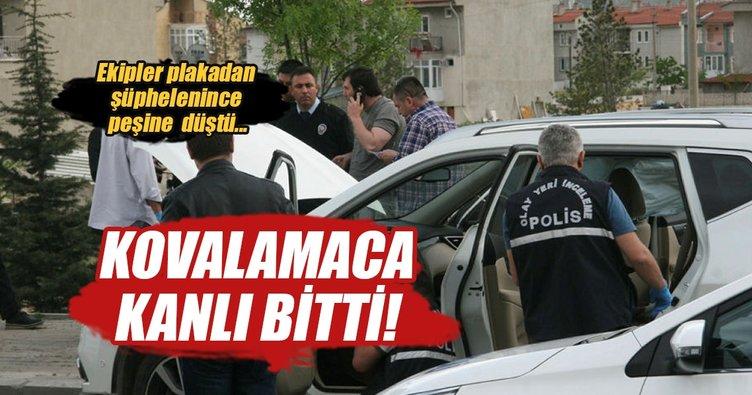 Polis otomobil hırsızını vurarak durdurdu