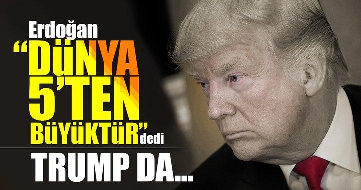 Erdoğan dışında 'değişim' diyen tek lider Trump oldu
