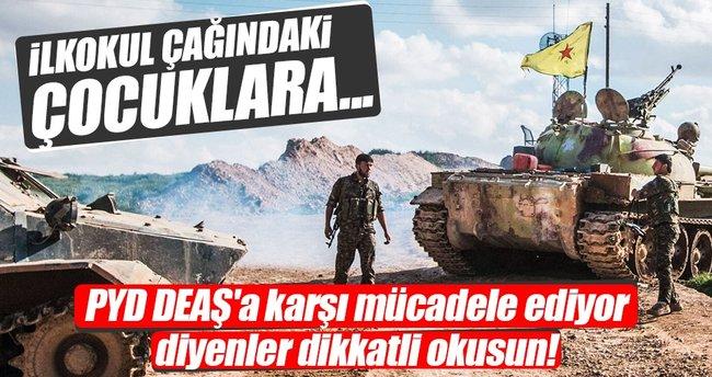 PYD/PKK Suriyeli çocukların beynini yıkıyor
