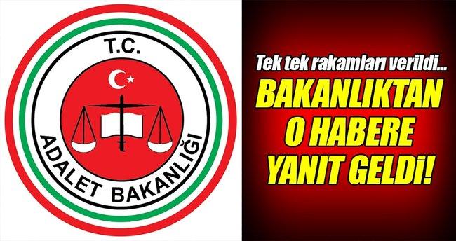 Adalet Bakanlığı'ndan o habere yalanlama!