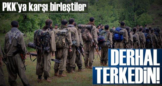 PKK'ya karşı birleştiler