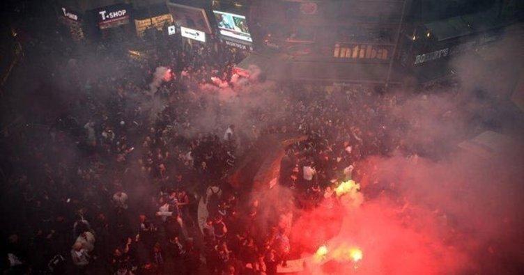 Beşiktaşlı taraftarlar coşkuyla Lyon maçını bekliyor