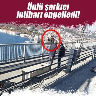Sanatçı Yavuz Bingöl köprüde hayat kurtardı