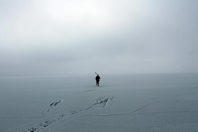 Çıldır gölü dondu