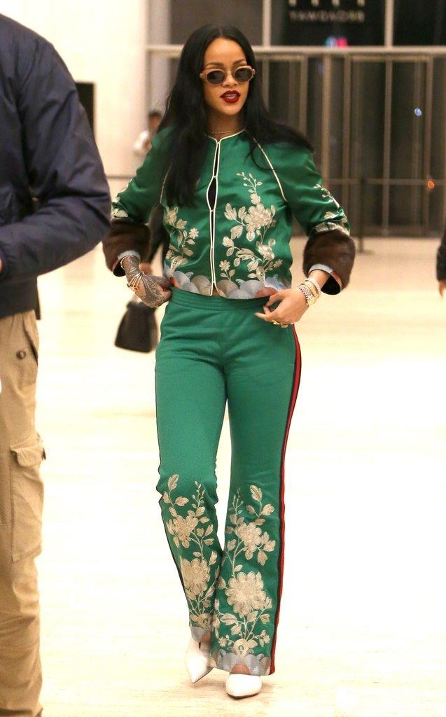 Rihanna yeşillere büründü