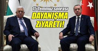 Cumhurbaşkanı Erdoğan ile Filistin Devlet Başkanı Abbas görüştü!