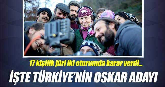 Oskar'ın Türkiye adayı seçildi